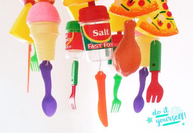 DIY Küchenlampe aus Kinderspielzeug