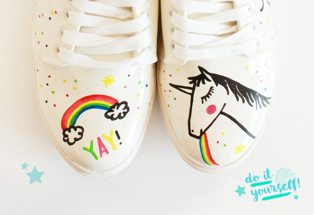 DIY Einhorn-Sneaker Mr. Monkies