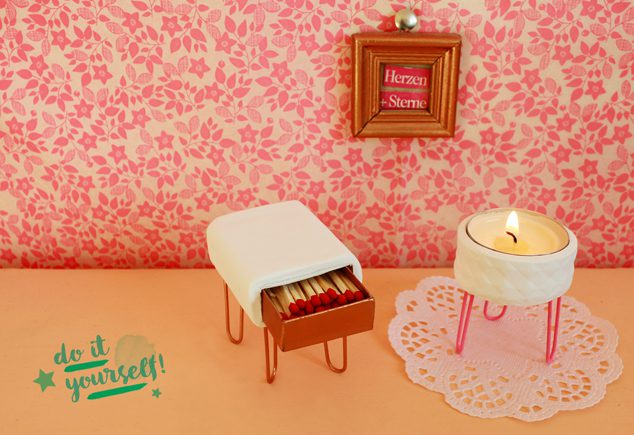 DIY 50er Vintage Kerzenhalter