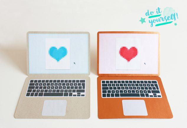 DIY Apple-Karte zum Valentinstag