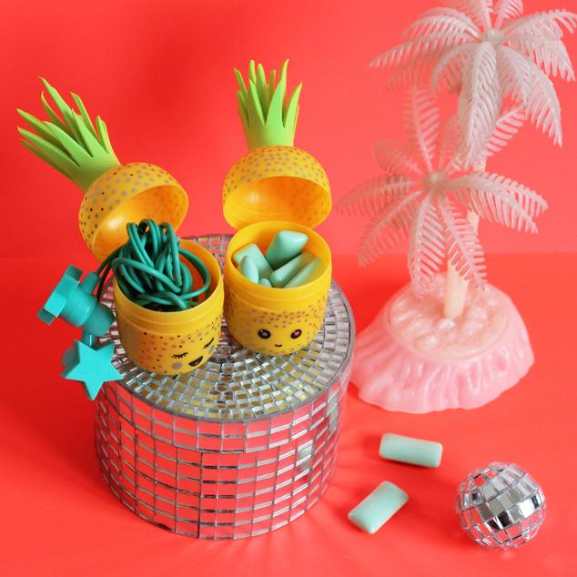 DIY Kopfhörer Aufbewahrung Ananas