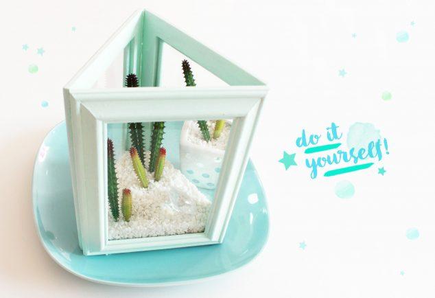 DIY Terrarium aus Bilderrahmen