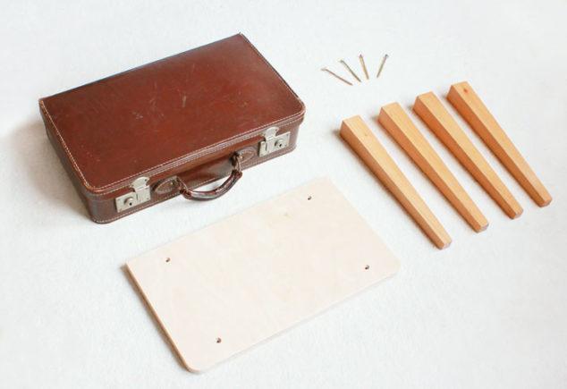 Koffer Tisch Bauen.Diy Koffertisch Selber Bauen Schminktisch Im Vintage