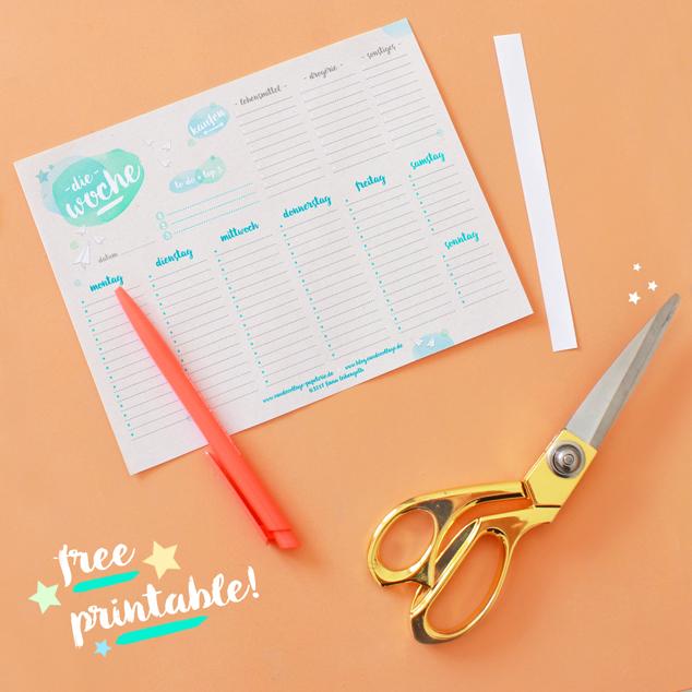 DIY Wochenplaner-Printable