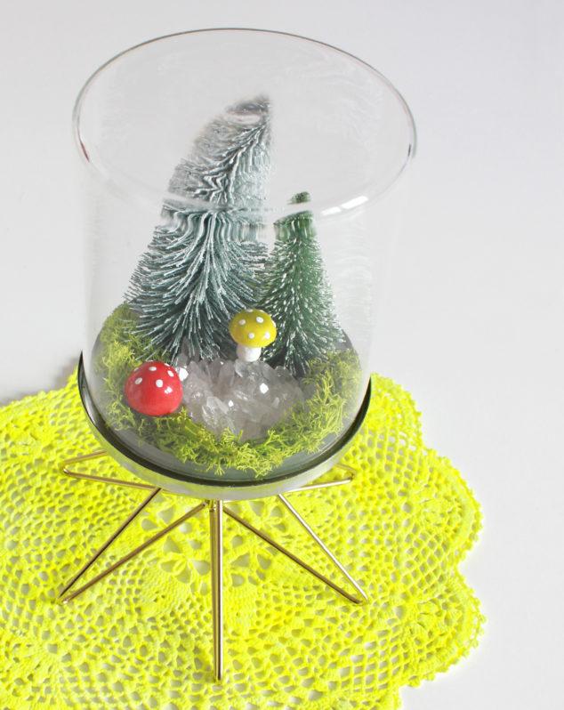 DIY Cloche Deko Glasglocke selber machen