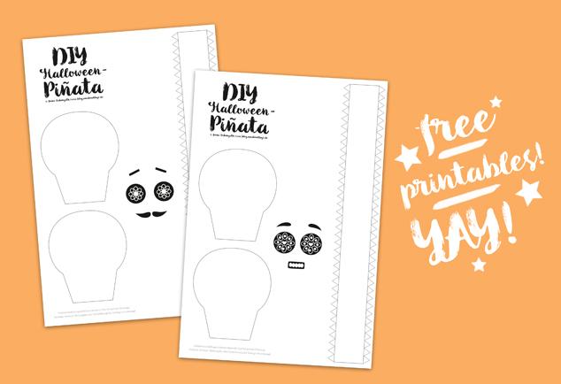 Diy Halloween Pinata Basteln Sugar Skull Free Printable Diy Blog