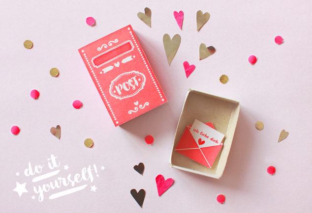 DIY Streichholzschachtel zum Valentinstag