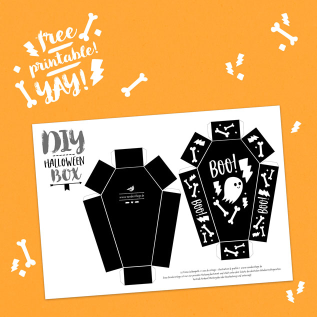 Diy Geschenk Für Halloween Basteln Free Printable Diy Blog