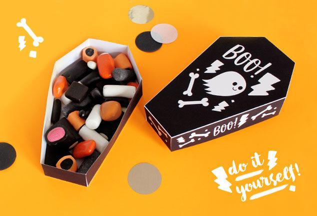 DIY Geschenk für Halloween basteln mit Free Printable