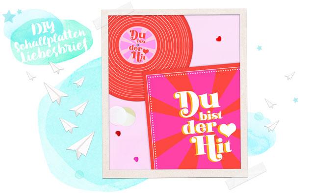 Diy Schallplatten Karte Basteln Zum Valentinstag Free